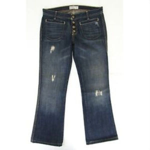 Old Navy Womens Jeans Dark Wash Ultra Low Rise